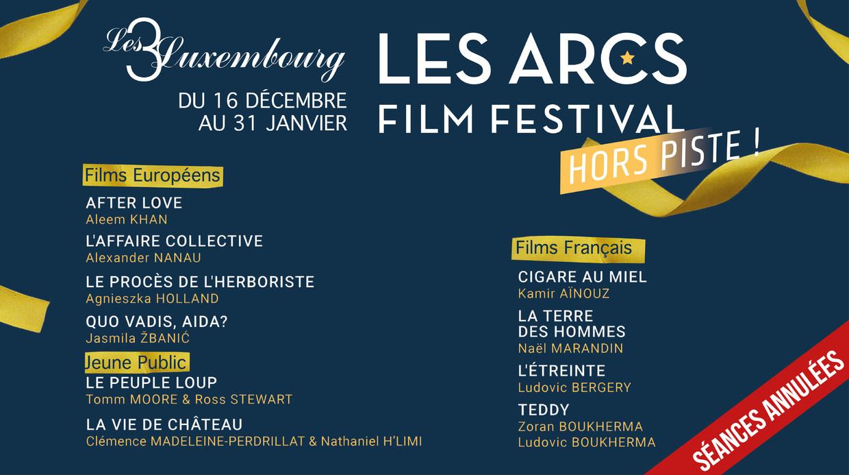 LES ARCS FILM FESTIVAL : AVANT-PREMIÈRES HORS LES MURS !